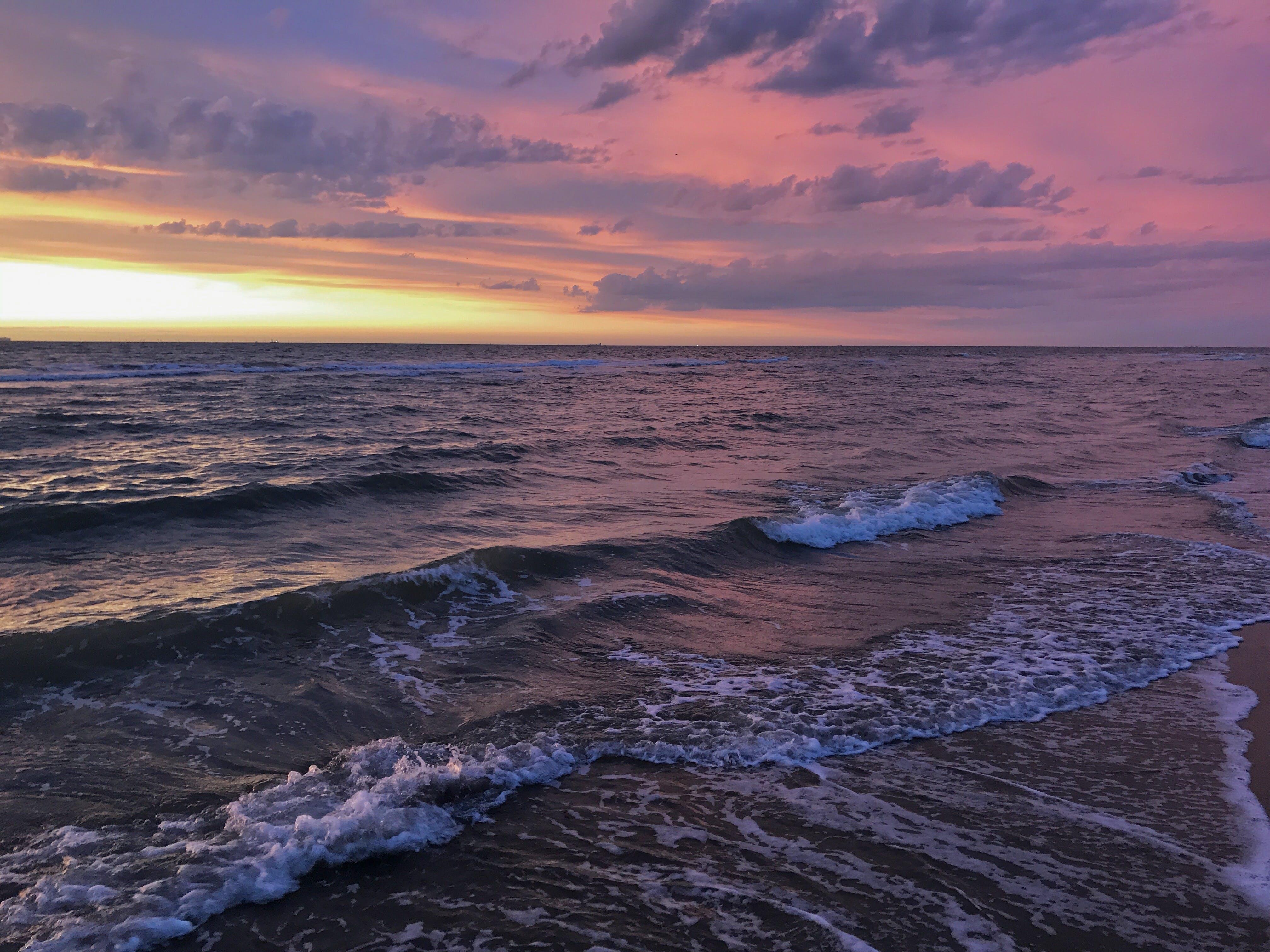 Gratis lagerfoto af nat, solnedgang, strand
