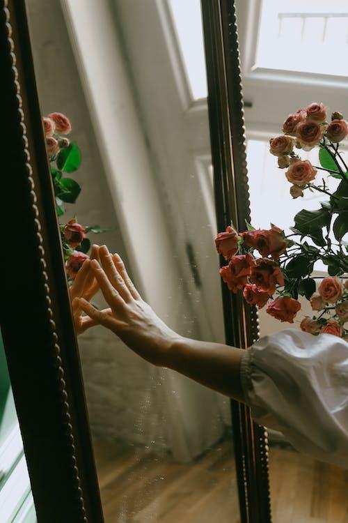 Fotos de stock gratuitas de conmovedor, espejo, flores