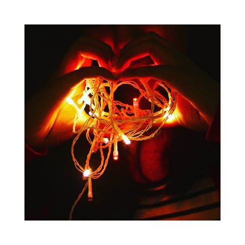 Foto stok gratis bentuk hati, bergembira, cahaya, cinta