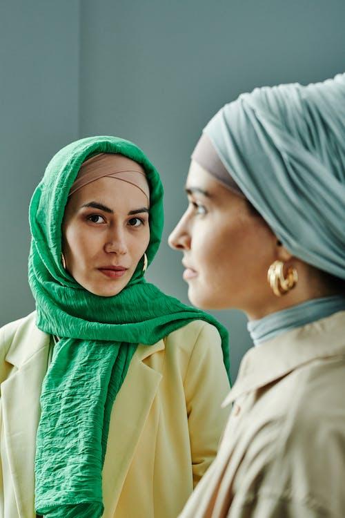 Woman in Green Hijab Smiling