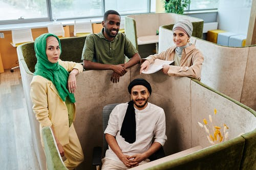 Smiling People in an Office