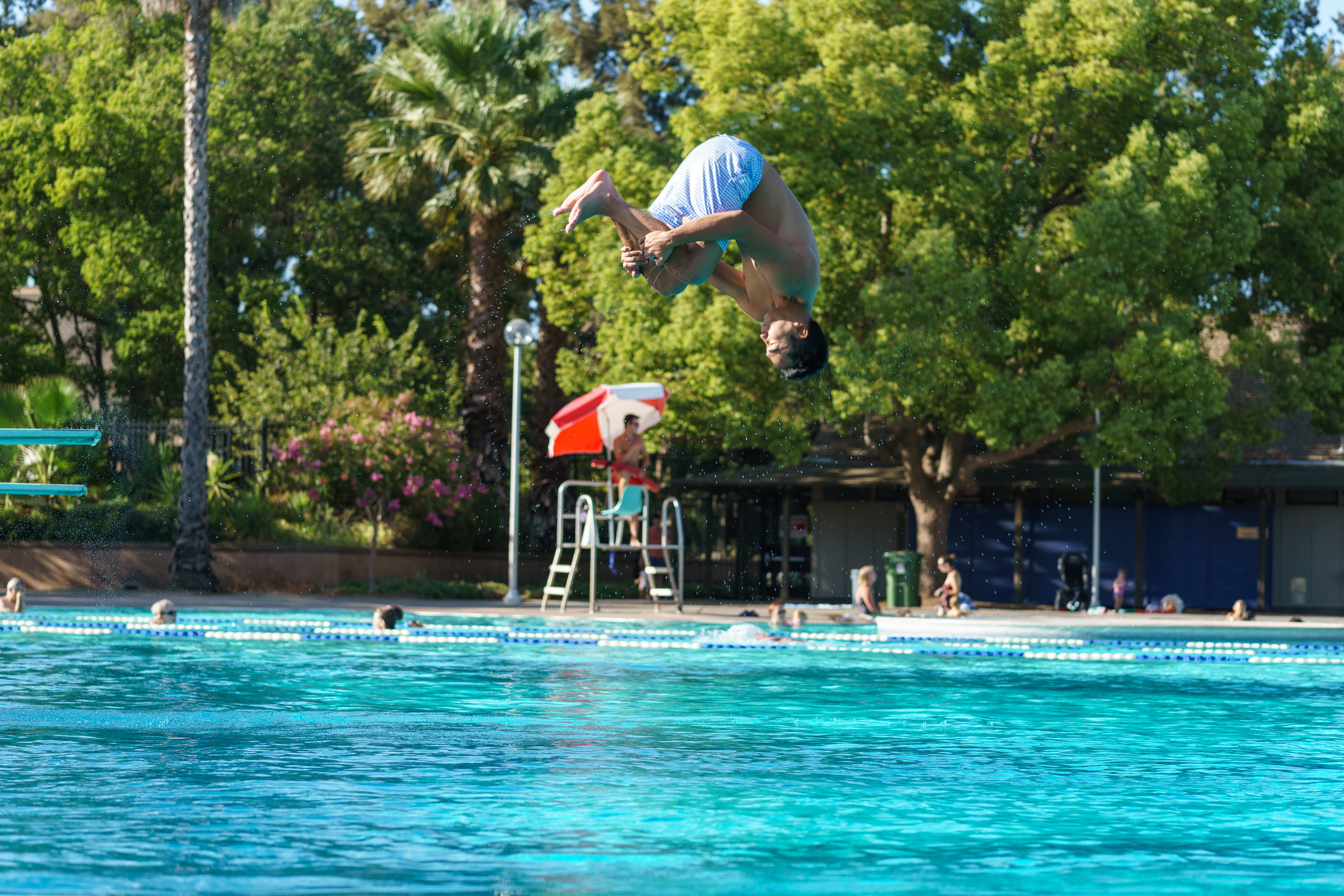cannonball, dive, diving board