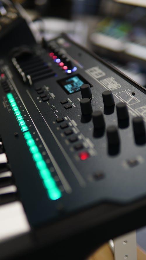Control Buttons of an  Audio Mixer