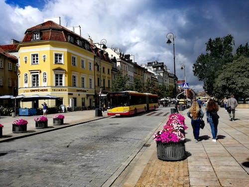 Ingyenes stockfotó központ, napos nap, város, Varsó témában