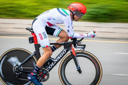 A Man in a Biking Race
