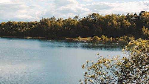 Free stock photo of blue lake, blue sky, clods