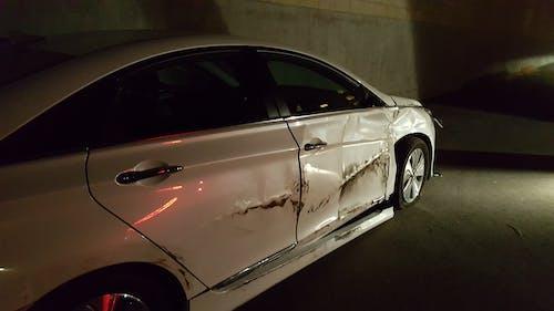Free stock photo of crashed car, KIA, passenger damage