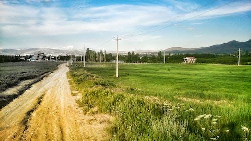 Бесплатное стоковое фото с голубое небо, пейзаж
