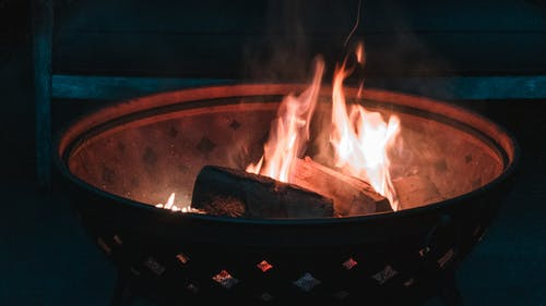 Free stock photo of fire, fire pit, wood