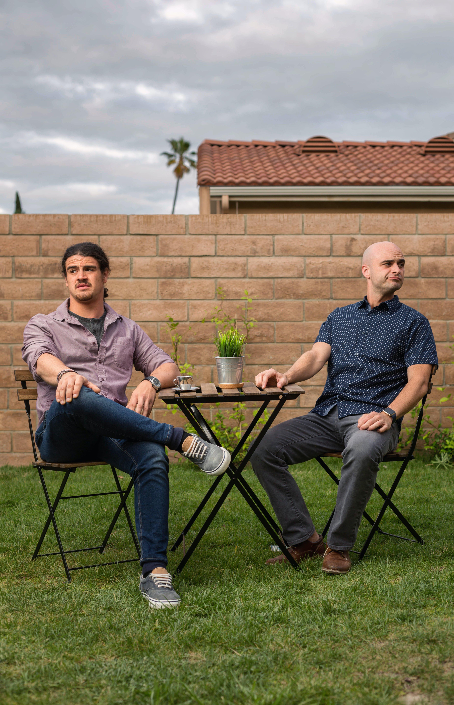Free stock photo of awkard, backyard, date, men
