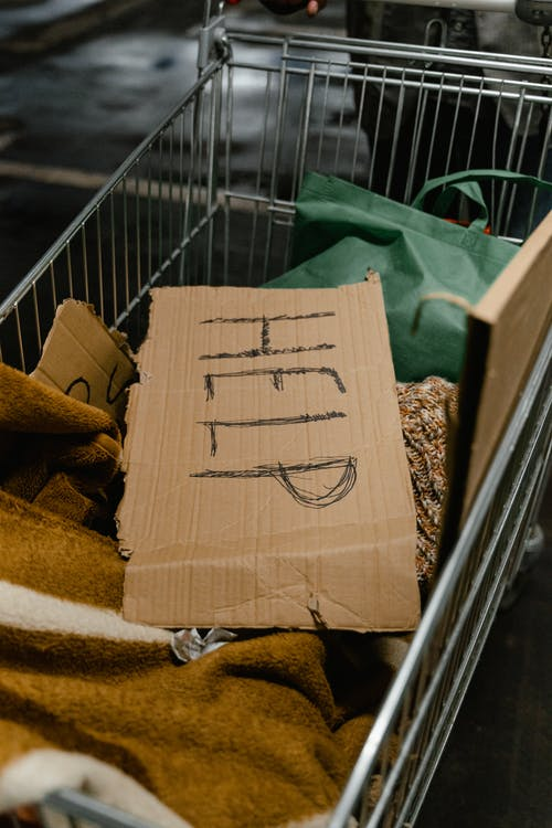 Help Banner in a Grocery Cart