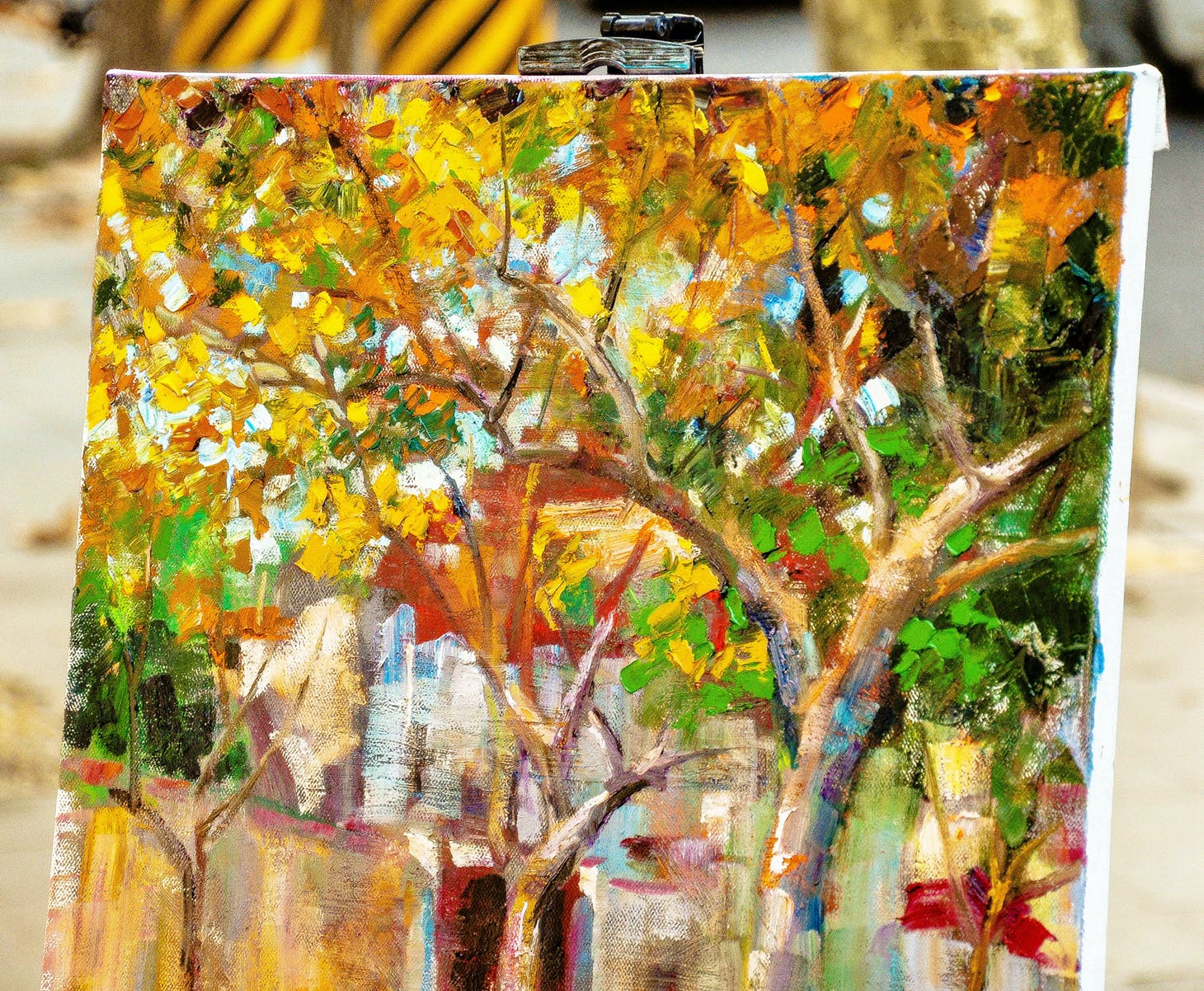 Free stock photo of landscape, street, yellow, painting