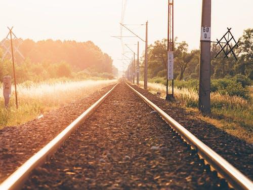 Kostenloses Stock Foto zu eisenbahn, grün, licht, lokomotive