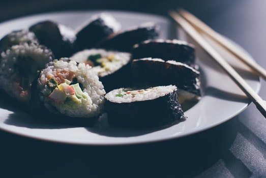 Free stock photo of food, dinner, meal, sushi