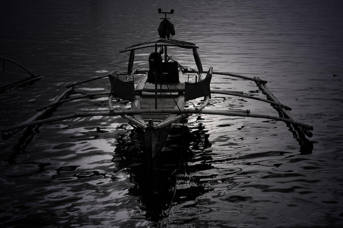 angeln, boot, einfarbig