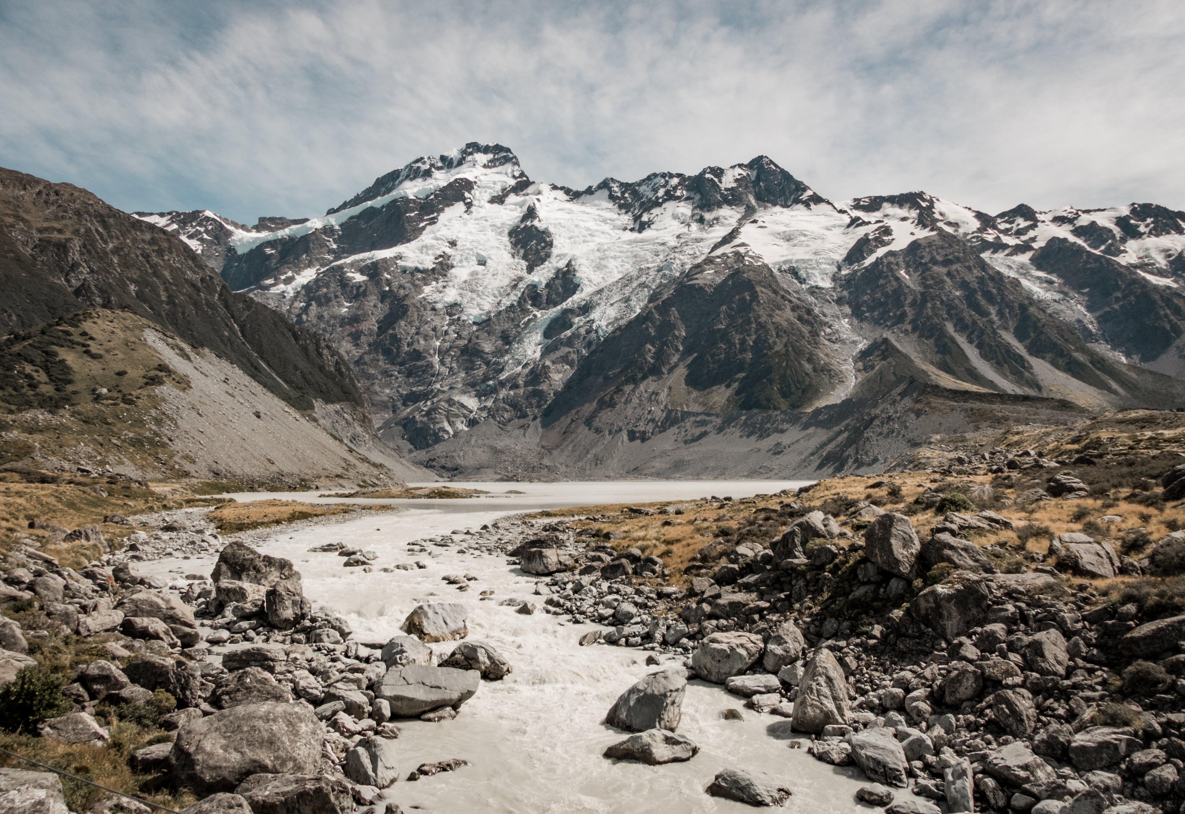 A Pathway Through Ice Like Mountain