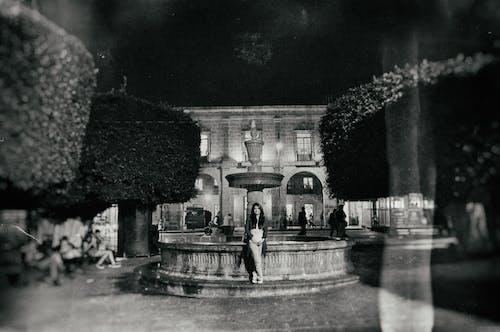 Foto d'estoc gratuïta de blanc i negre, Font, increïble, moment