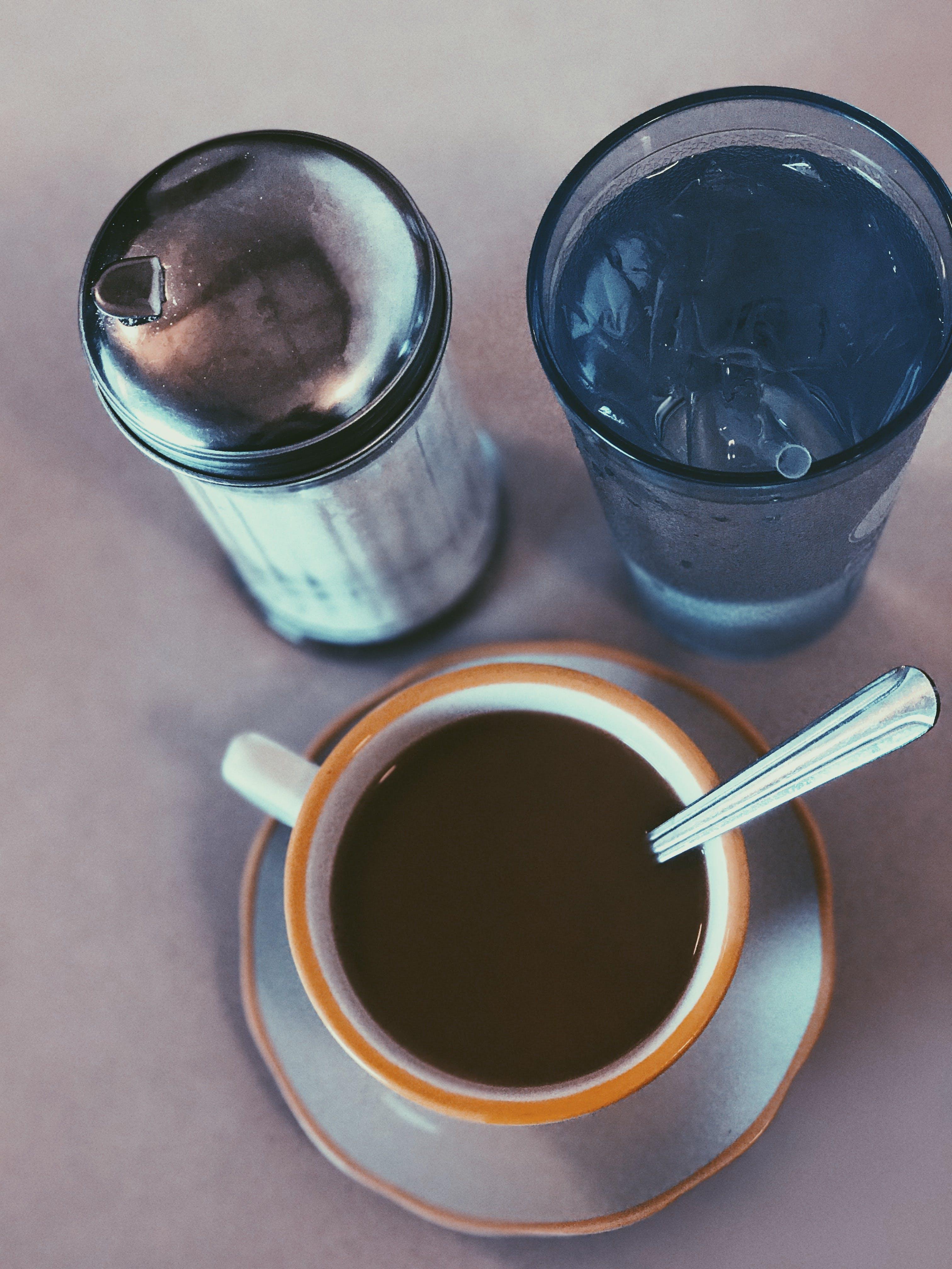 Free stock photo of coffee, spoon, water, sugar