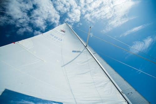 White Sail Boat Under Blue Sky