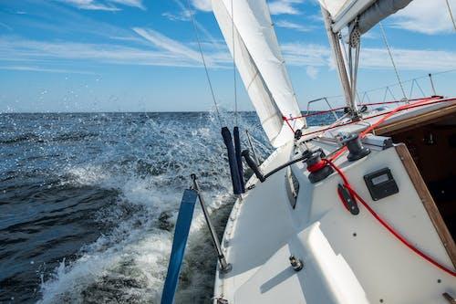 Splashing Sea Water on the Sailboat