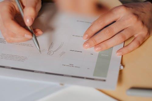 Gratis stockfoto met aantekeningen maken, close-up shot, documenten