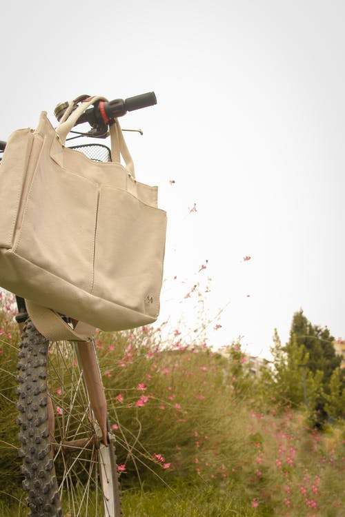 Bag Hanging on the Bicycle Handle