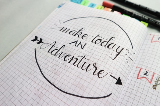 Free stock photo of quotes, draw quotes, bich tran, make today an adventure