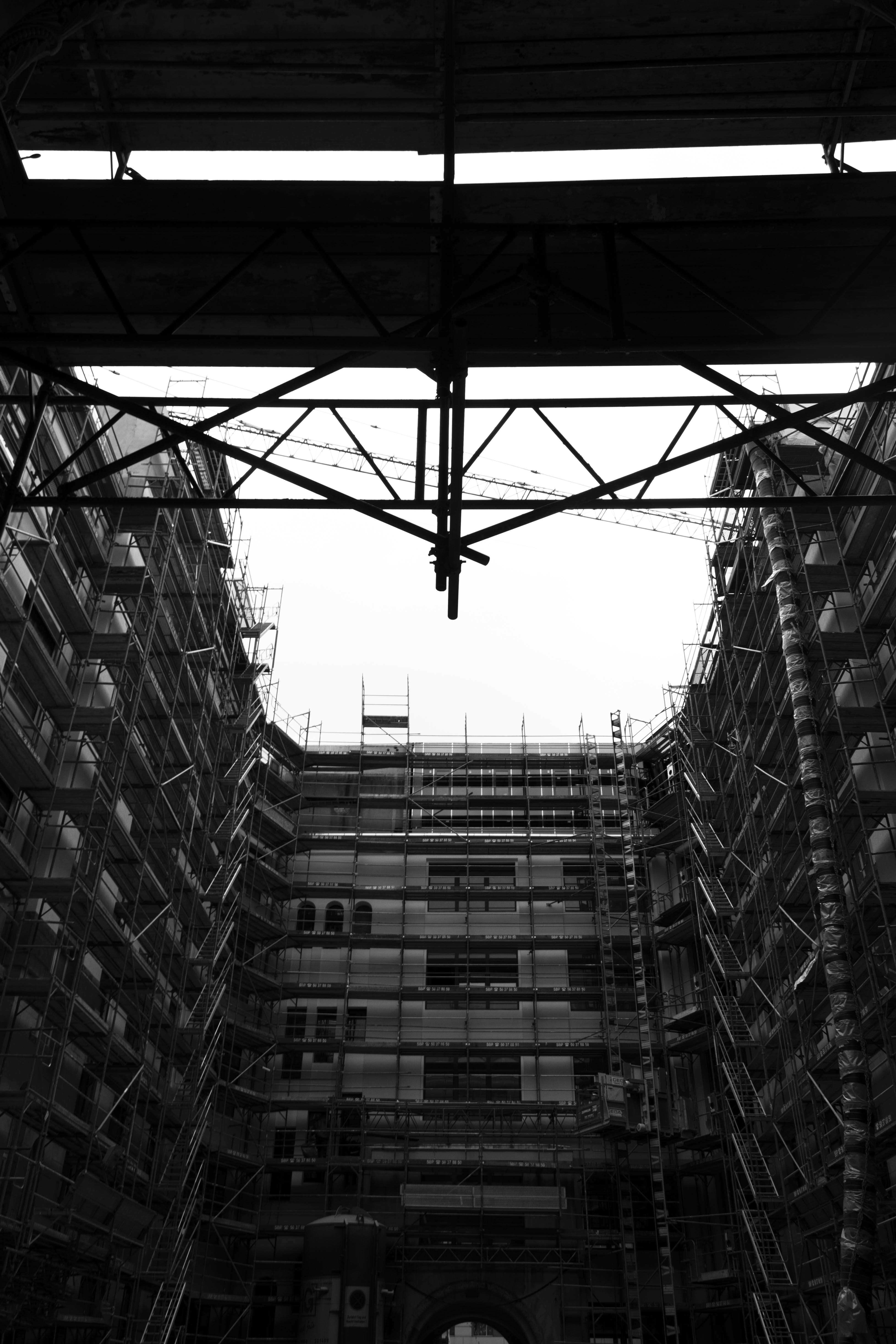 Free stock photo of architecture, berlin, black and white, building