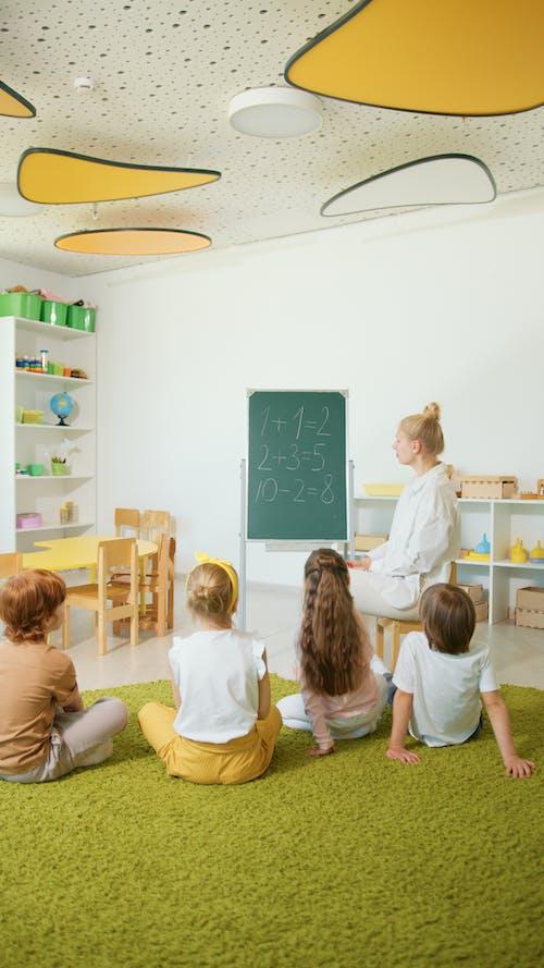 A Teacher Teaching Mathematics