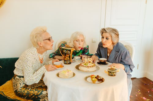 Elderly Women Celebrating a Party