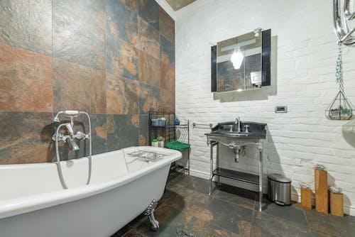 Ilmainen kuvapankkikuva tunnisteilla kylpyamme, Kylpyhuone, nykyaikainen