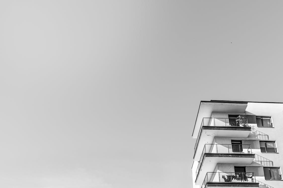 architektur, außen, balkone
