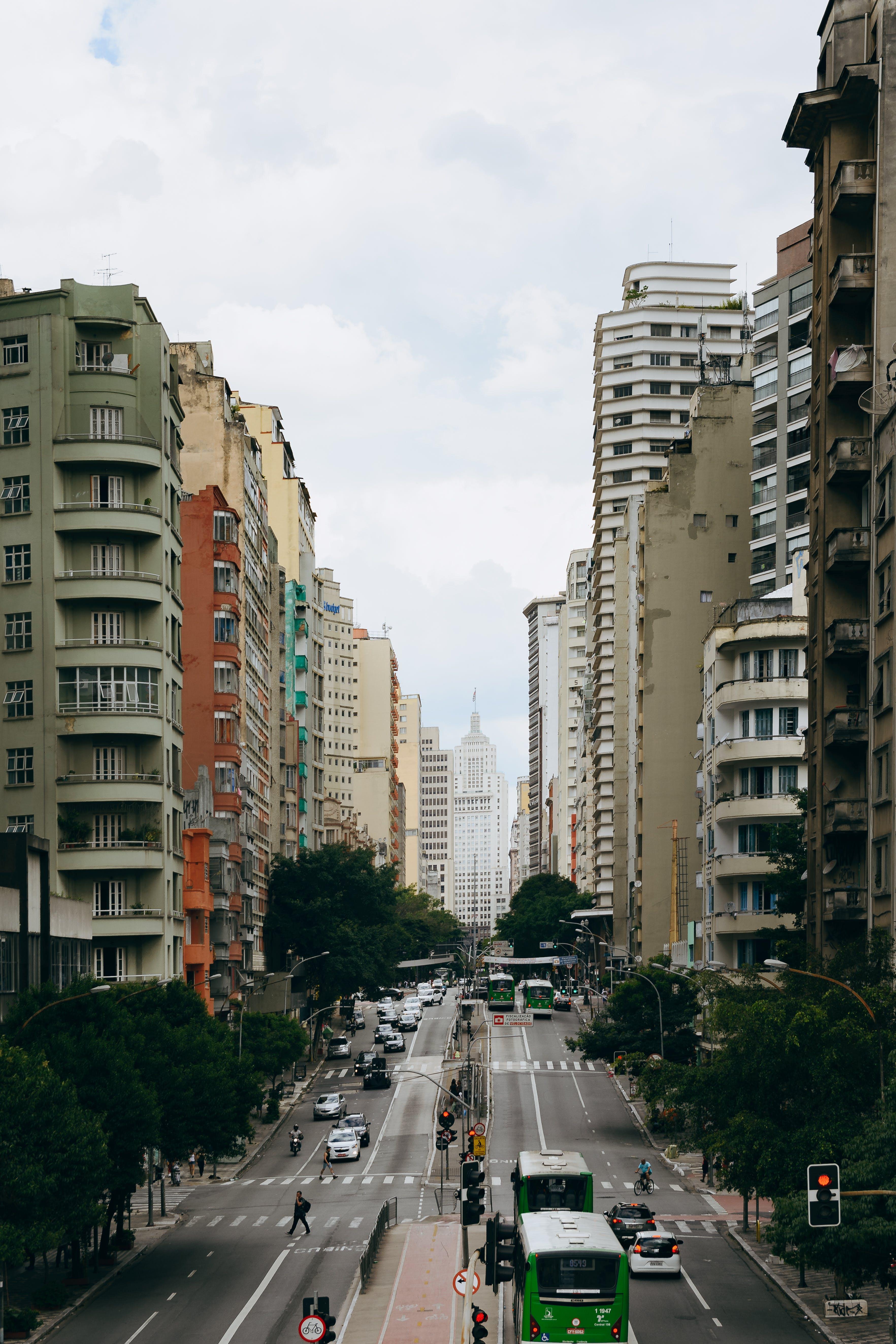 Kostenloses Stock Foto zu architektur, architekturdesign, autos, bäume