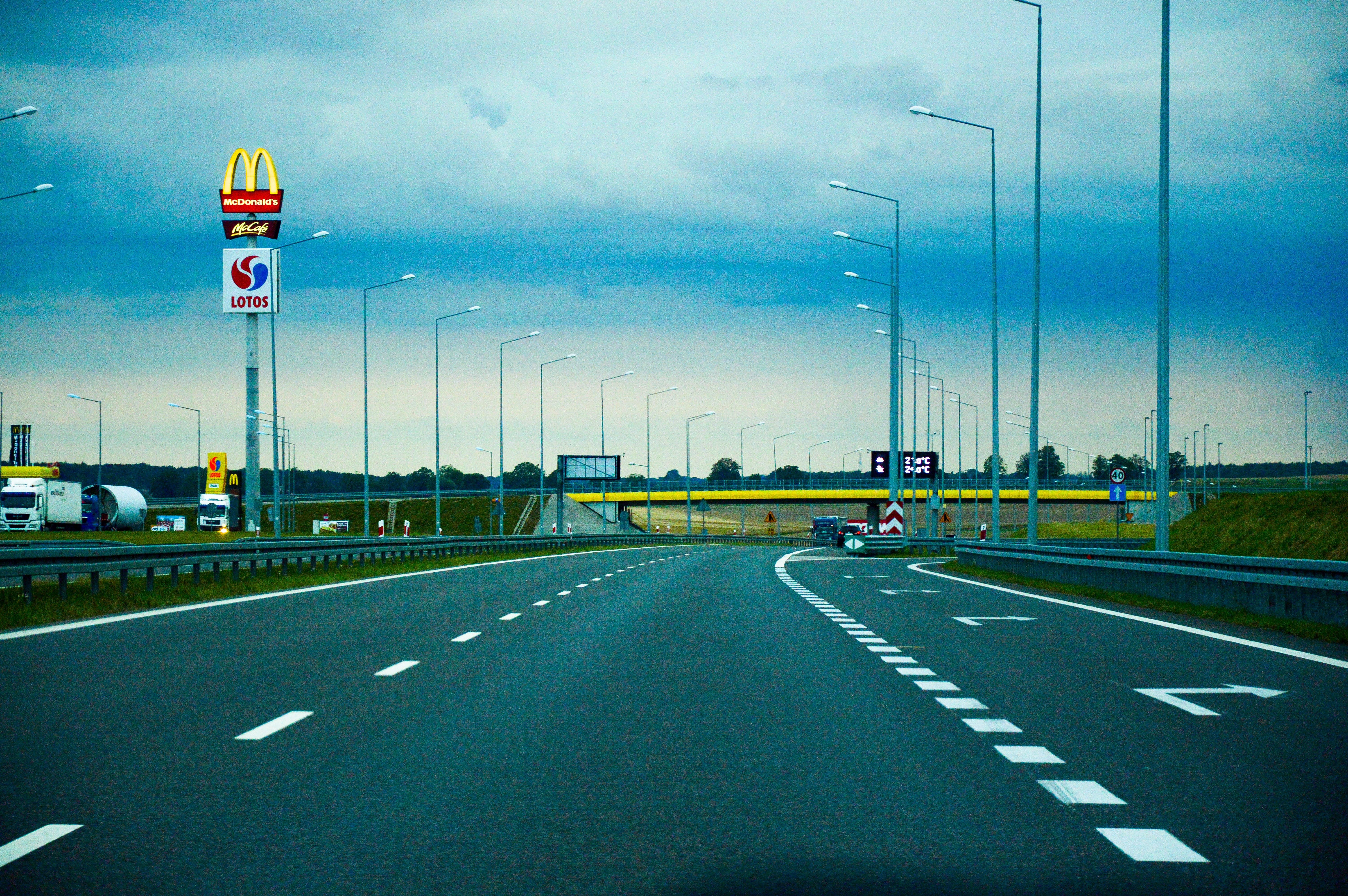 Free stock photo of asphalt, drive, expressway, mcdonalds