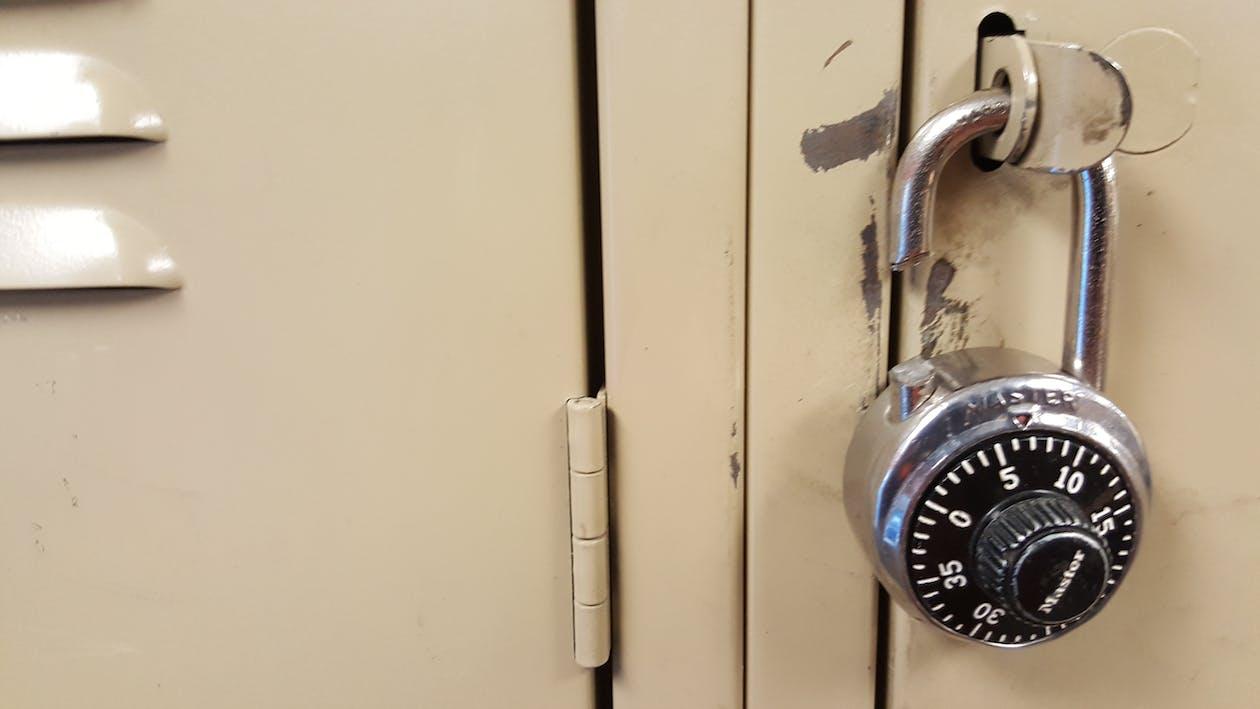 broken lock, gym, locker room