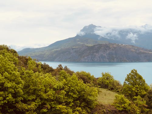 Free stock photo of alps, beach, clouds