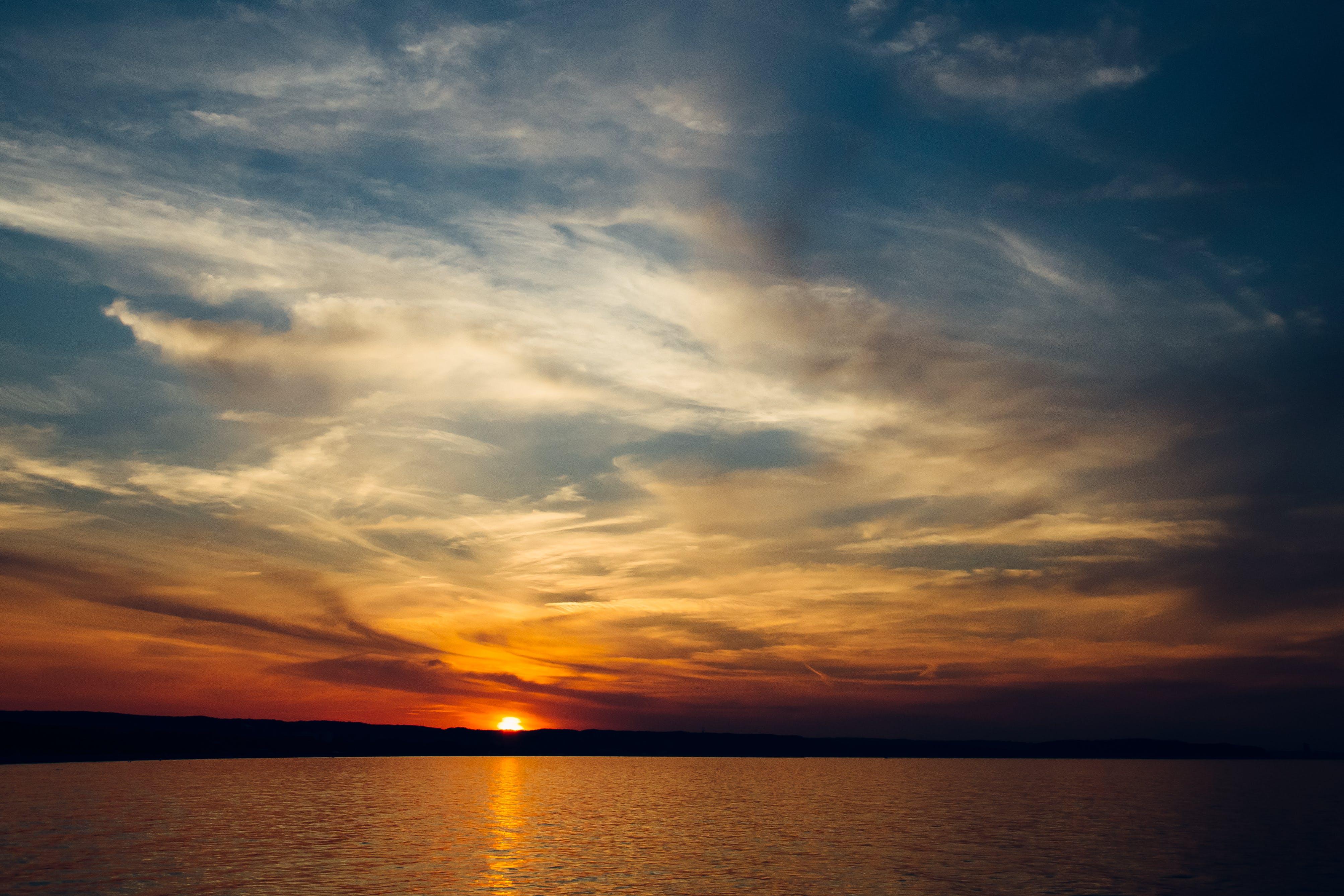 clouds, sea, sky