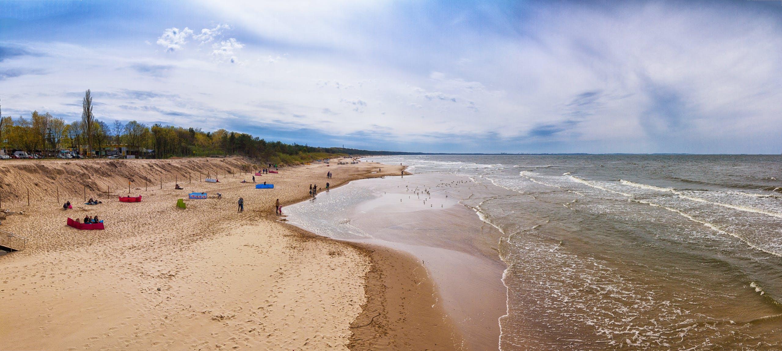 Free stock photo of beach, coastline, miedzyzdroje, molo