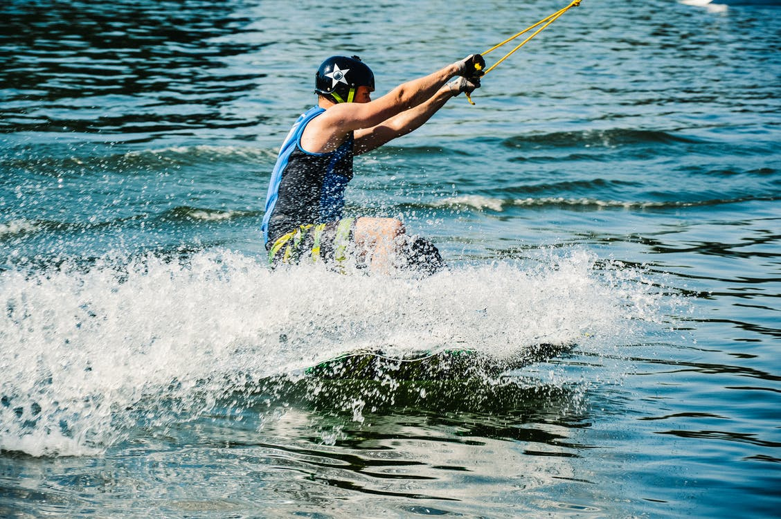 Man Playing Water Ski in Close-up Photography