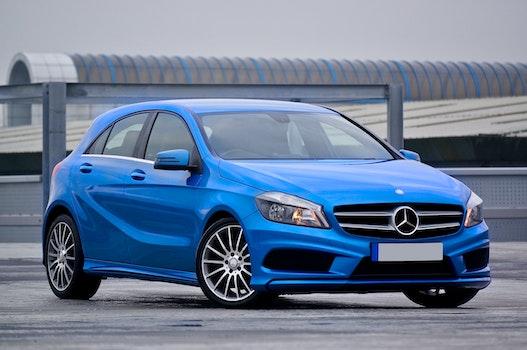 Photography of a Blue Mercedes-benz 5-door Hatchback