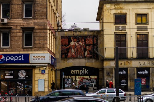 Gratis stockfoto met aleje jerozolimskie, empik, gebouwen, kunst