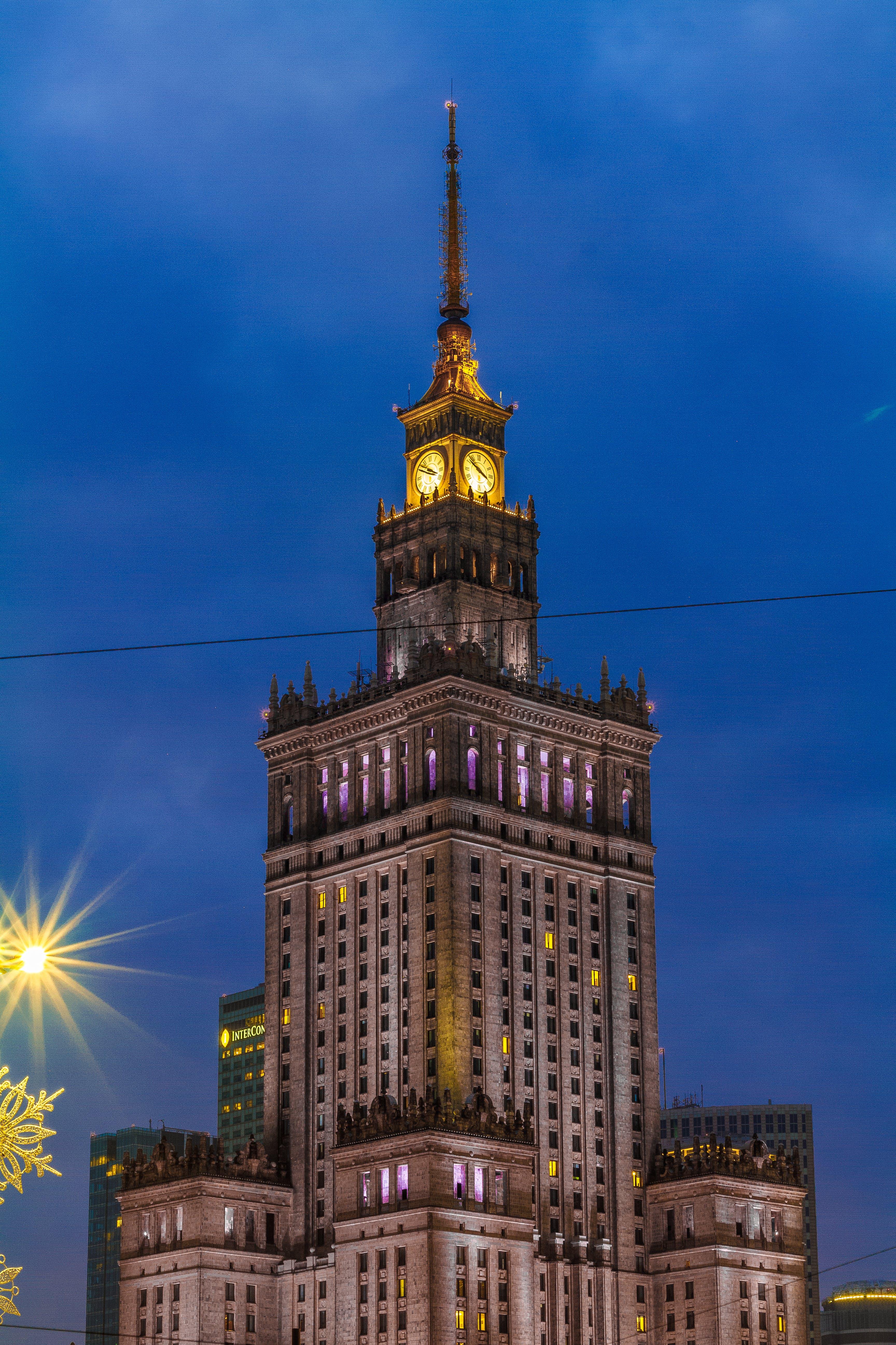 Free stock photo of architecture, building, modernism, palac kultury i nauki