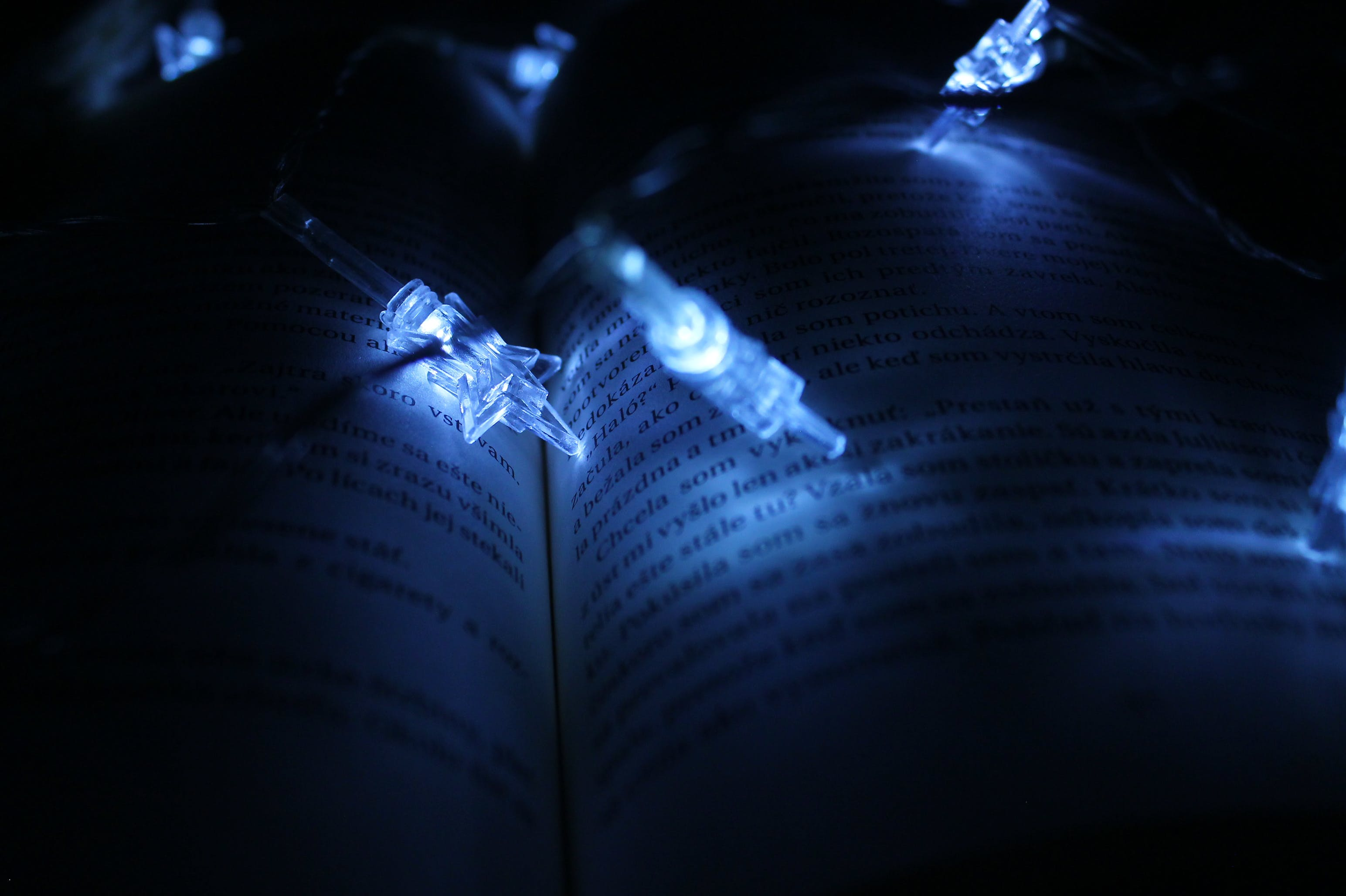 String Lights On Book