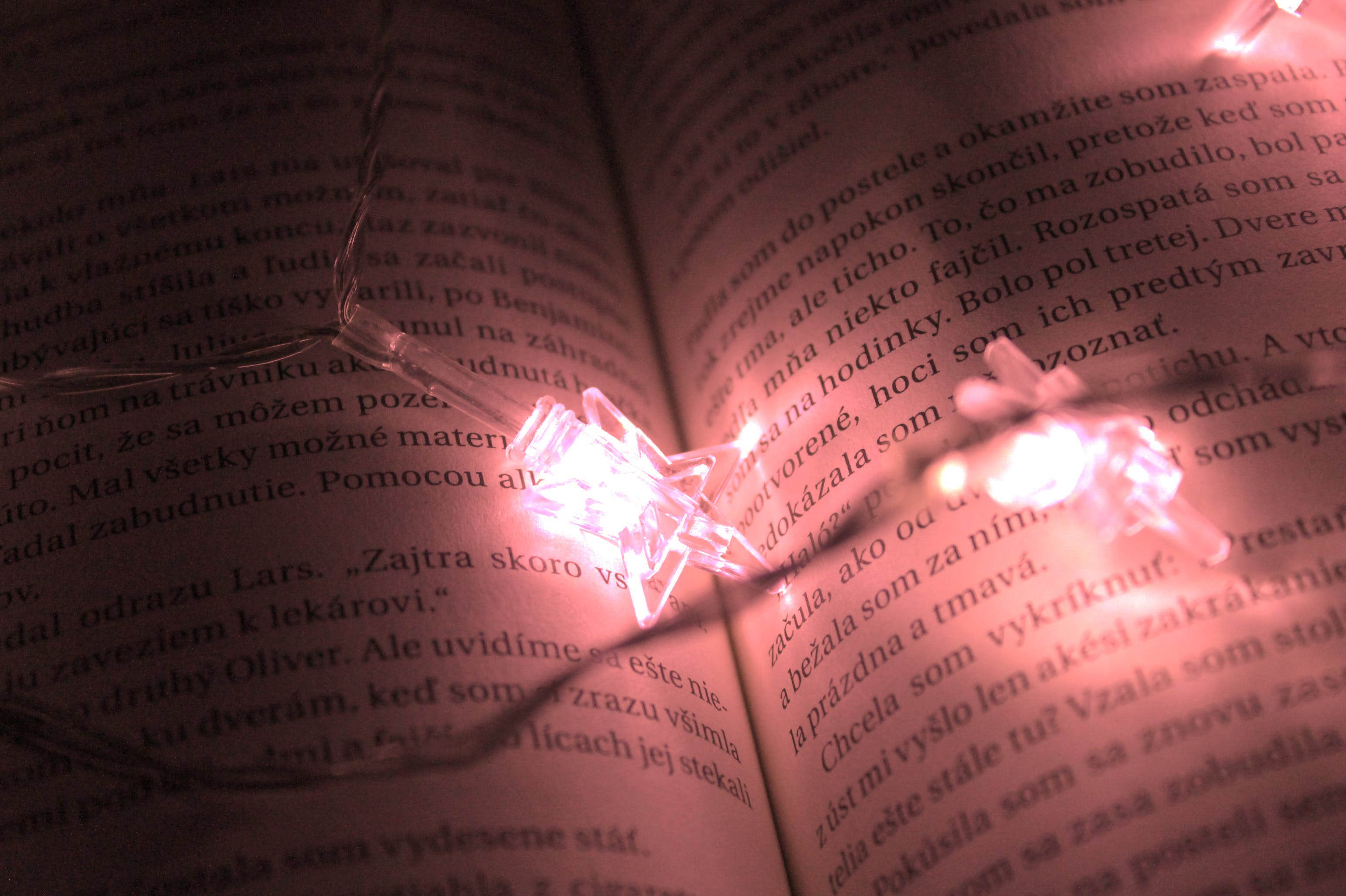 Star Shaped Lights On A Book