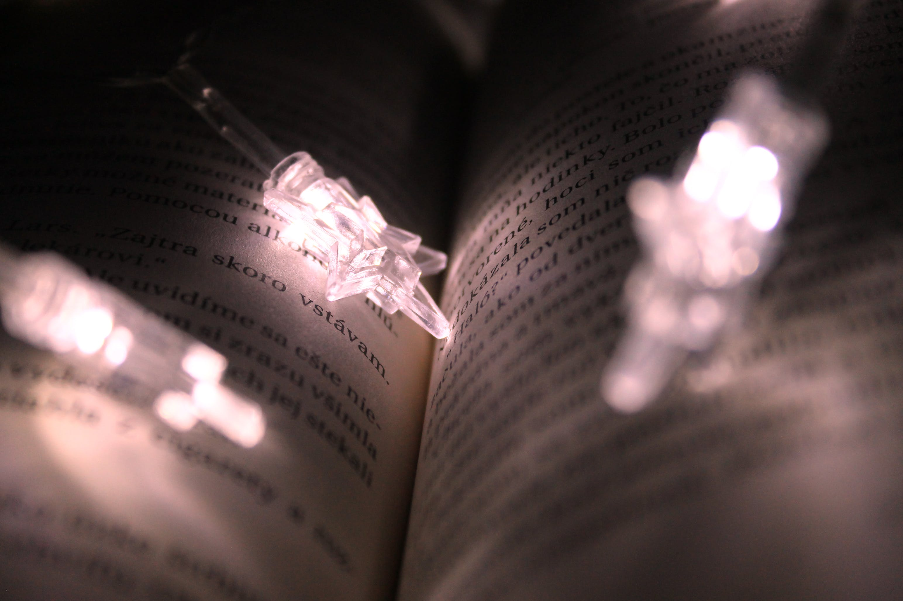 Free stock photo of book, lights, words