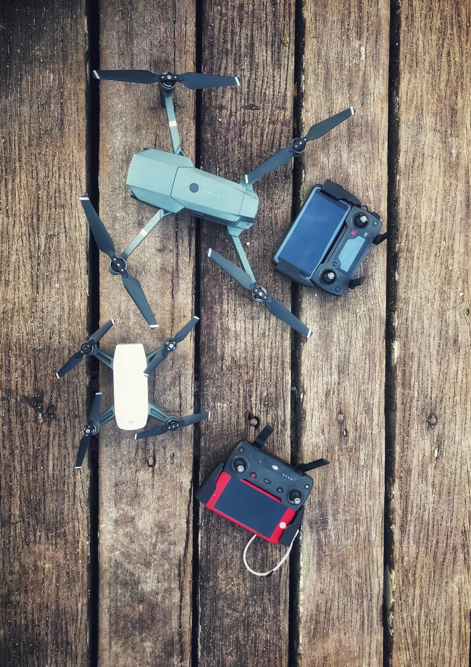 Two Assorted Quadcopter Drones With Controllers