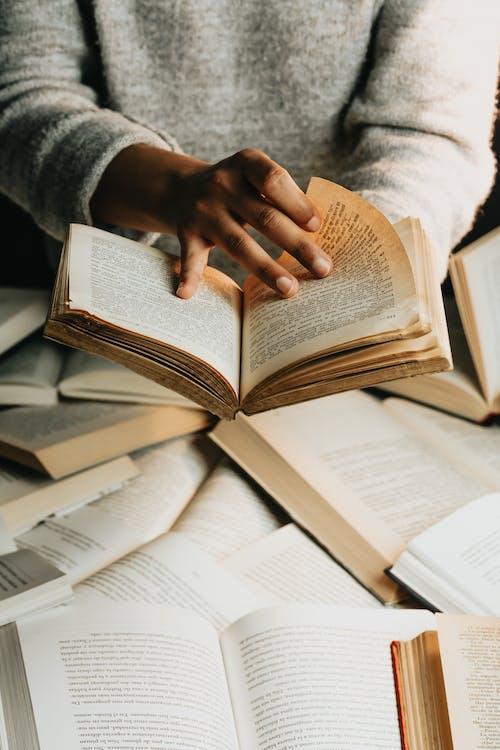 Foto profissional grátis de biblioteca, conhecimento, dentro de casa