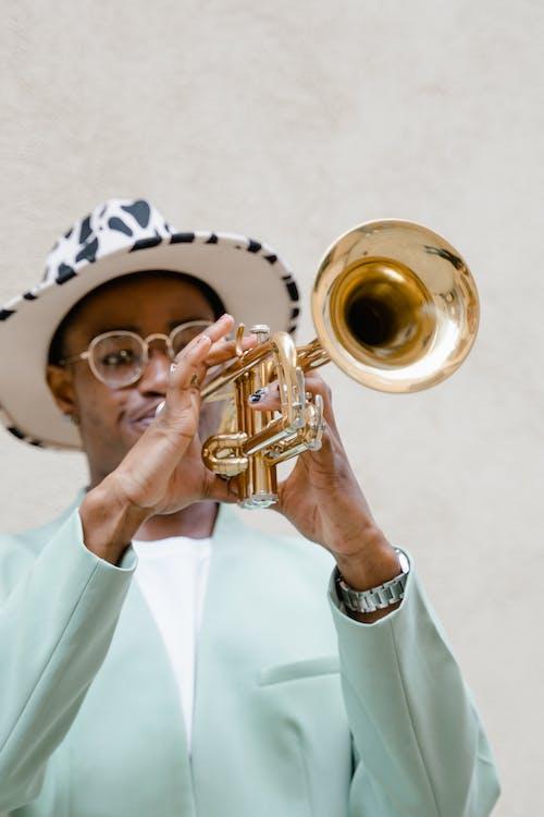 Man Packing His Trumpet
