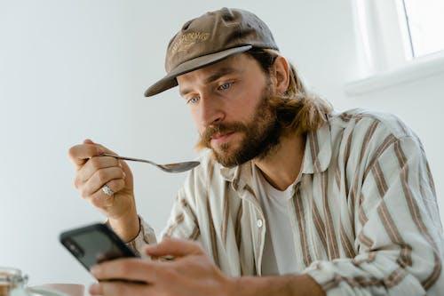 人, 傢伙, 吃 的 免費圖庫相片