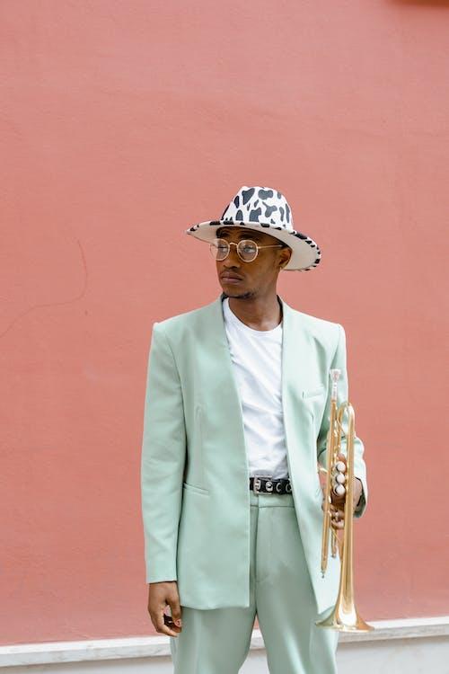 Δωρεάν στοκ φωτογραφιών με busker, fedora καπέλο, άνδρας